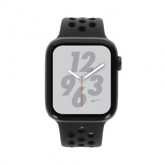 Apple Watch Series 4 Nike+ Aluminiumgehäuse grau 44mm mit Sportarmband anthrazit/schwarz (GPS) aluminium grau sehr gut