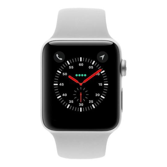 Apple Watch Series 3 Aluminiumgehäuse silber 42mm mit Sportarmband wei√ü (GPS + Cellular) aluminium silber gut