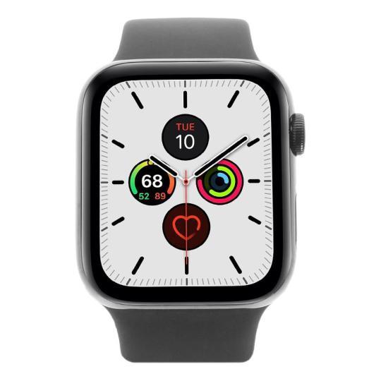 Apple Watch Series 5 Edelstahlgehäuse black 44mm mit Sportarmband black (GPS + Cellular) schwarz neu