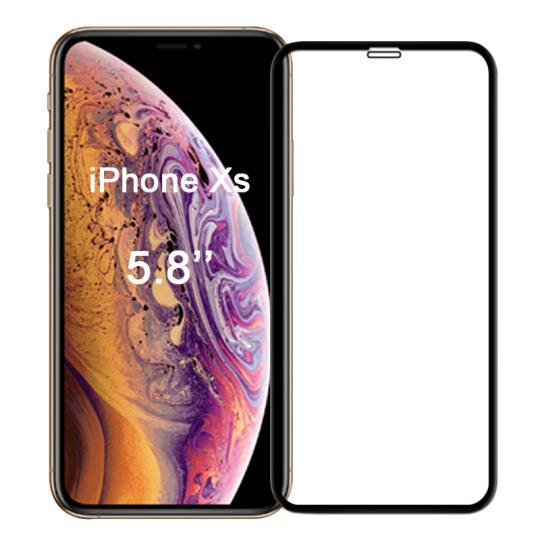 Panzerglas für Apple iPhone X / XS -ID17111 schwarz neu