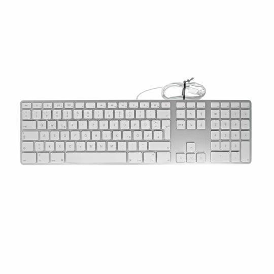 Apple Keyboard mit Ziffernblock (A1243 / MB110D/A) Weiss - QWERTZ wie neu