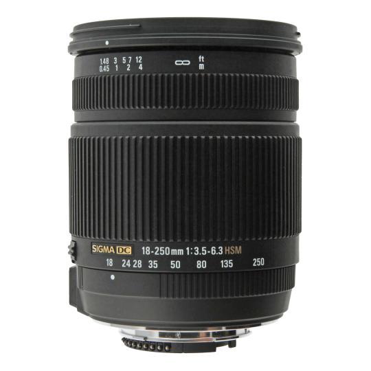 Sigma 18-250mm f3.5-6.3 OS HSM DC Objetivo para Nikon negro como nuevo