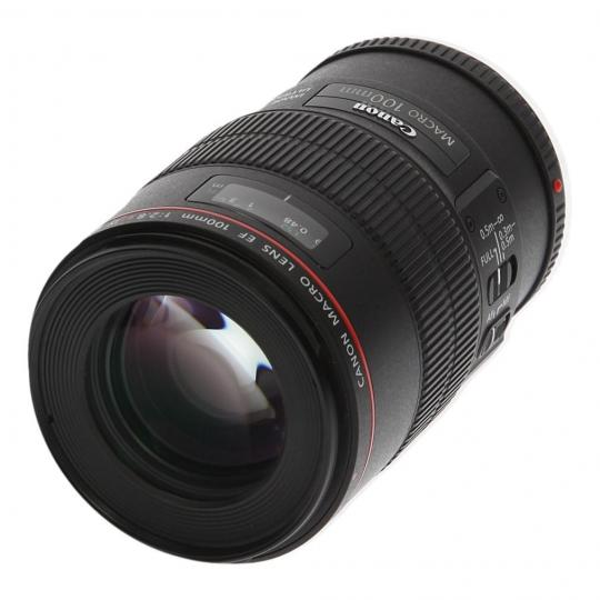 Canon EF 100mm 1:2.8 L IS USM Macro Schwarz gut