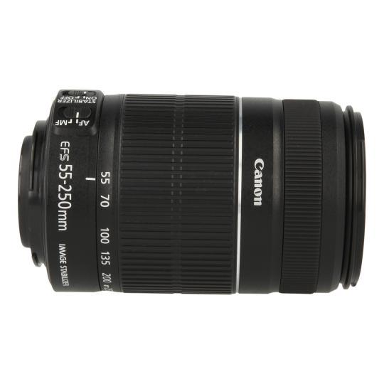 Canon EF-S 55-250mm 1:4-5.6 IS II Schwarz gut