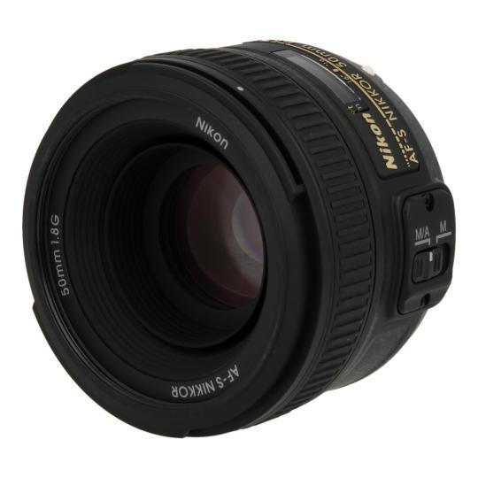 Nikon AF-S Nikkor 50 mm F1.8 SWM Aspherical G Objetivo negro buen estado