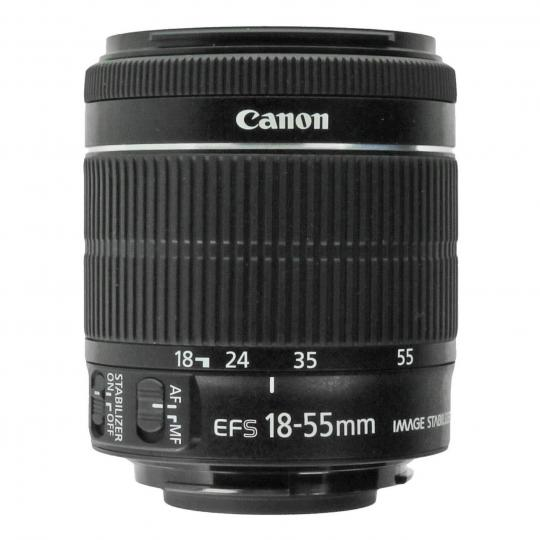 Canon EF-S 18-55mm 1:3.5-5.6 IS STM negro buen estado