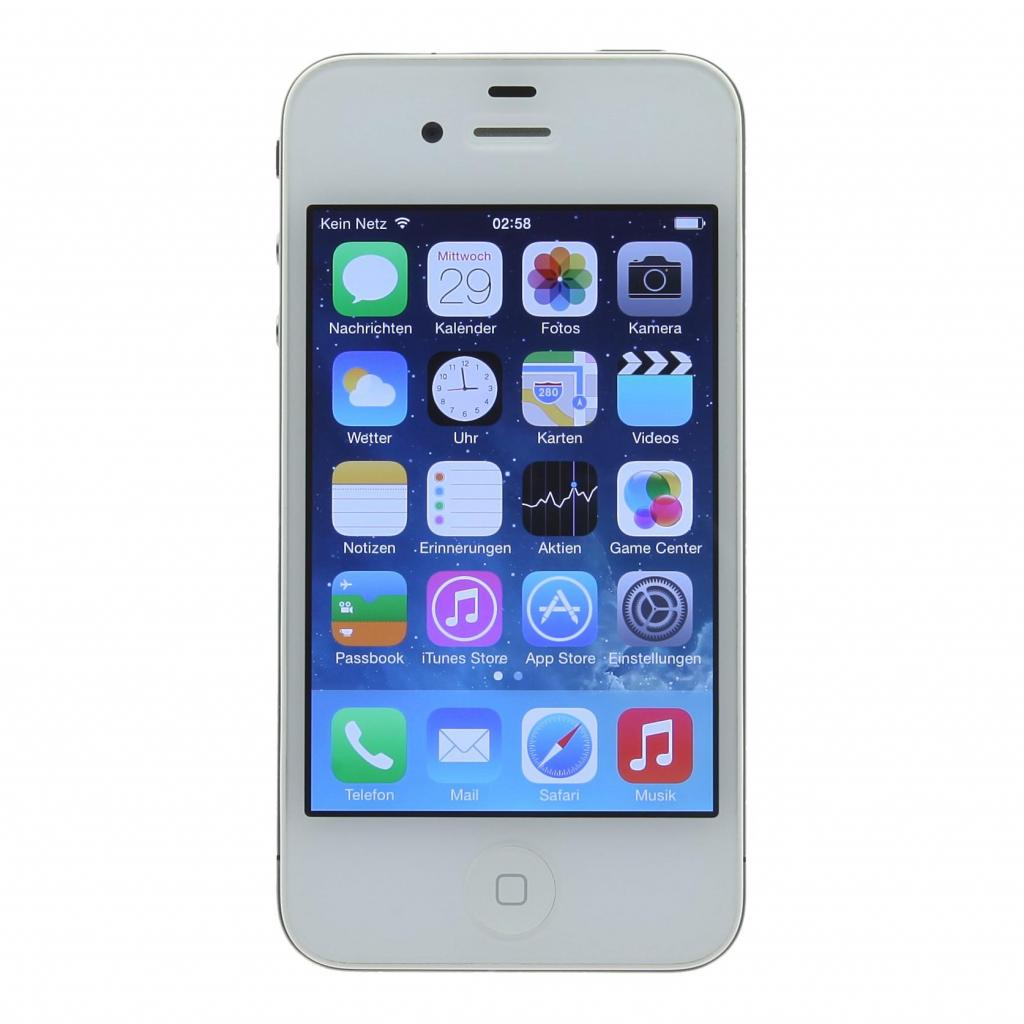 Apple iPhone 4s (A1387) 8 GB blanco como nuevo