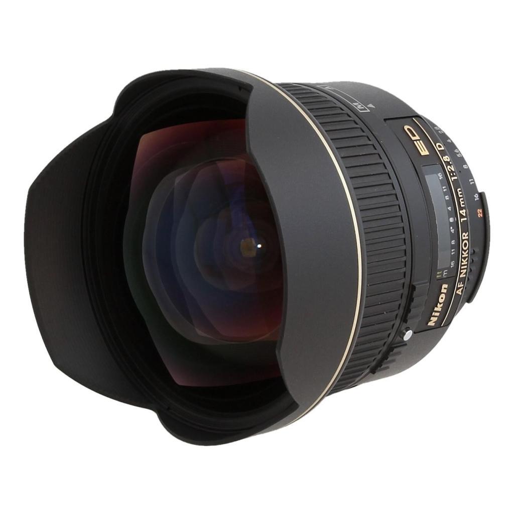 Nikon 14mm 1:2.8 AF D ED - schwarz gut