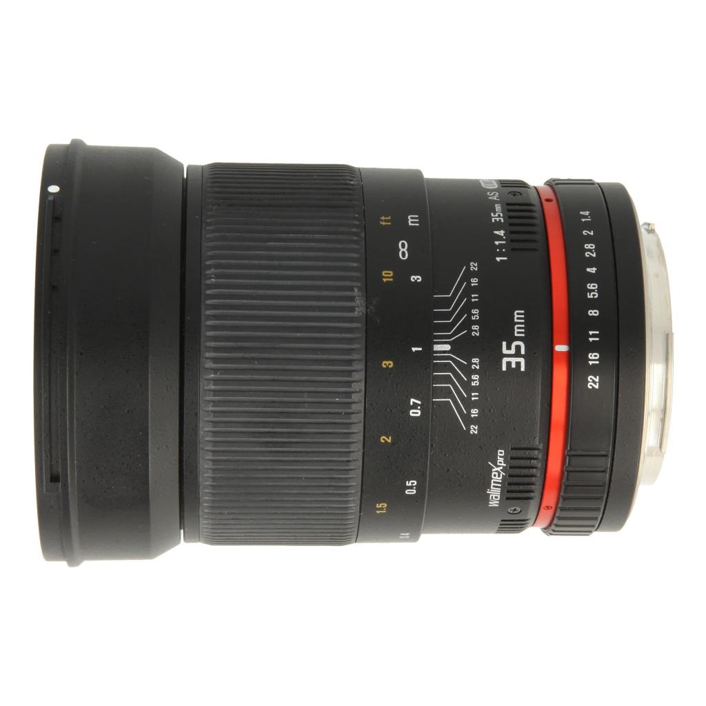 Walimex Pro 35mm 1:1.4 für Canon schwarz sehr gut