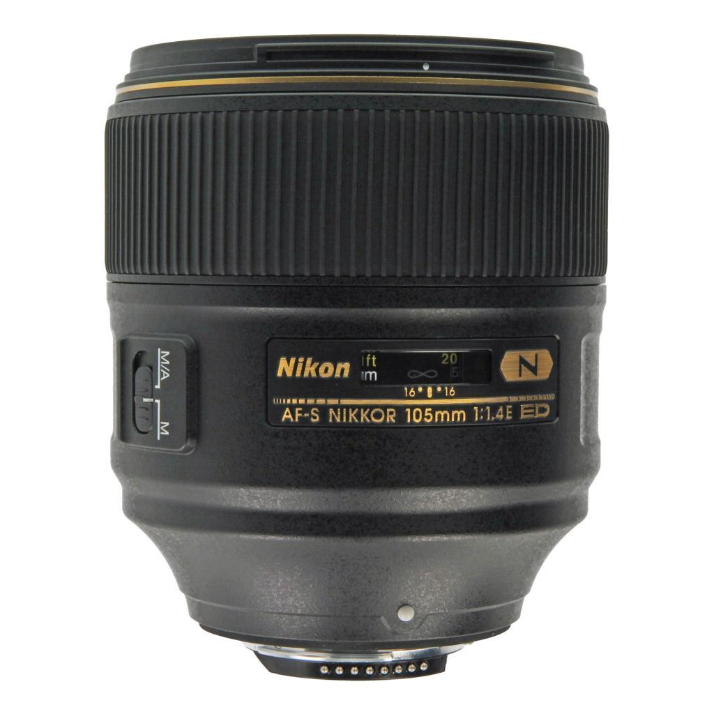 Nikon 105mm 1:1.4 AF-S NIKKOR E ED Schwarz gut