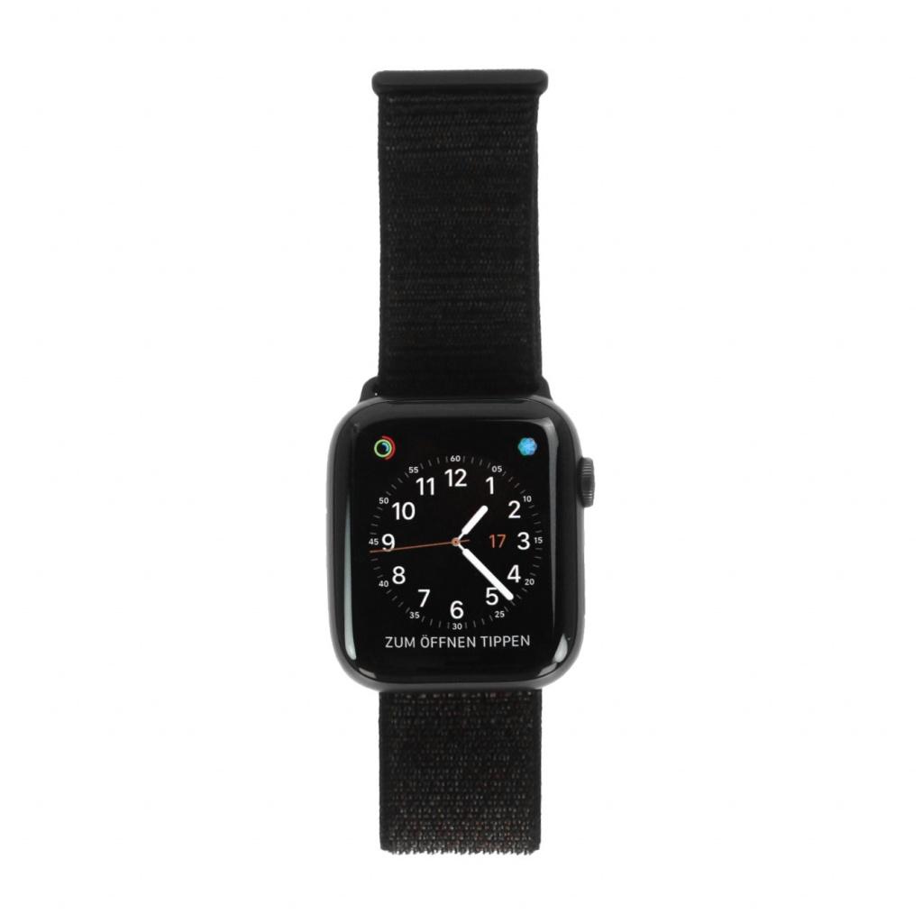 Apple Watch Series 4 Aluminiumgehäuse grau 44mm mit Sport Loop schwarz (GPS) aluminium grau neu