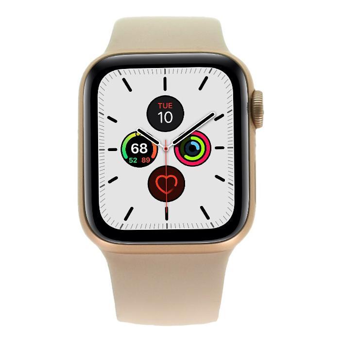 Apple Watch Series 5 Aluminiumgehäuse gold 40mm mit Sportarmband sandrosa (GPS) gold gut