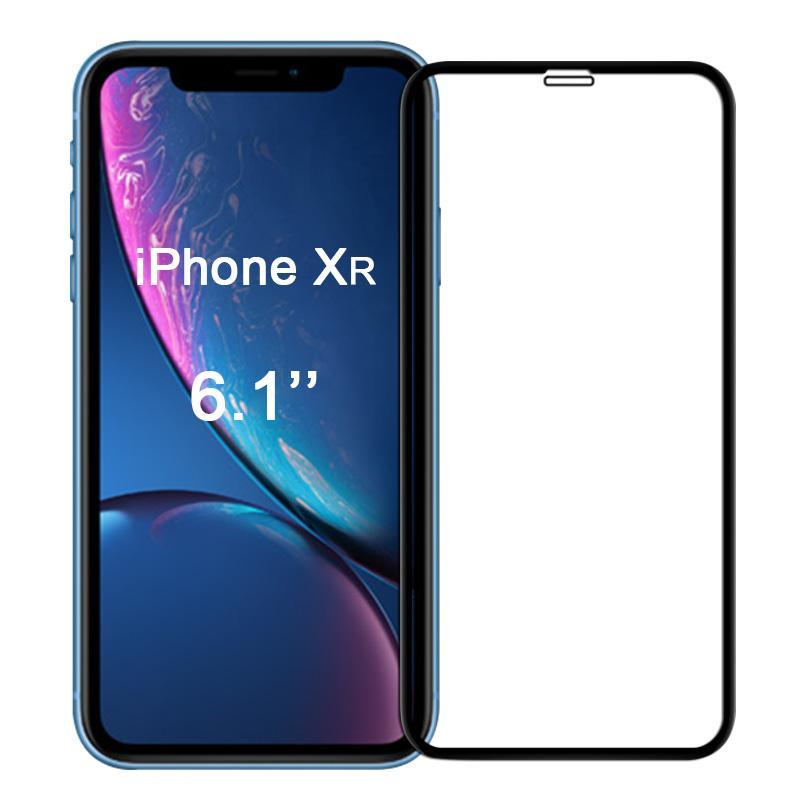 Ultra Panzerglas für Apple iPhone XR -ID17126 schwarz neu