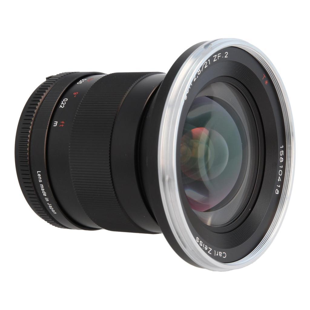 Zeiss Distagon T* 2.8/21 ZF.2 mit Nikon F Mount Schwarz sehr gut