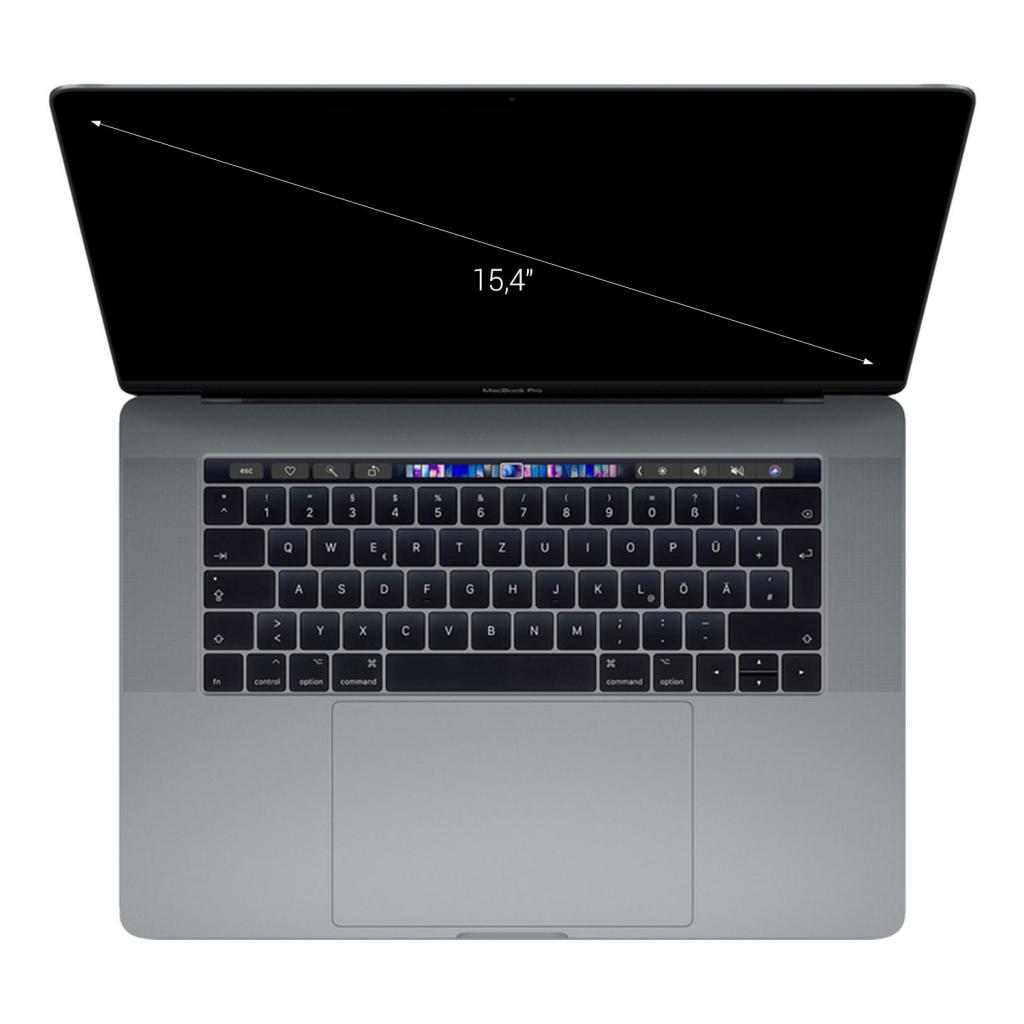 "Apple MacBook Pro 2018 15"" Touch Bar/ID Intel Core i7 2,60 GHz 512 GB SSD 16 GB spacegrau gut"