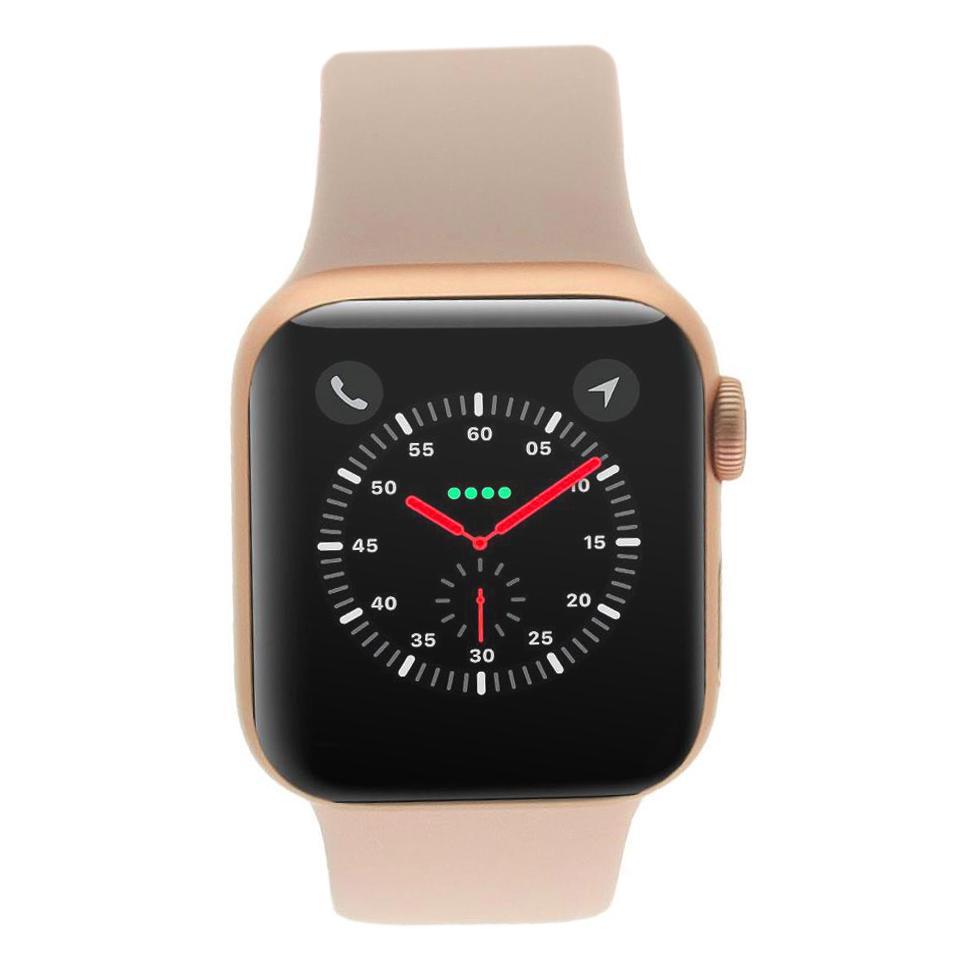 Apple Watch Series 4 Aluminiumgehäuse gold 40mm mit Sportarmband sandrosa (GPS) aluminium rosegold sehr gut