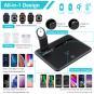 Station de charge sans fil 4 en 1pour Apple Watch / AirPods / iPhone Samsung Huawei und Mehr -ID18227 noir