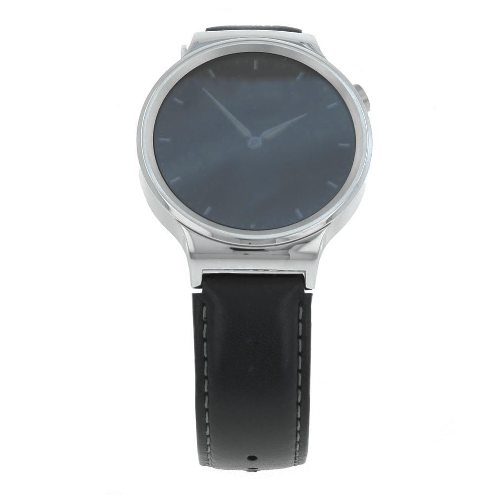 Huawei Watch Classic mit Lederarmband schwarz silber schwarz