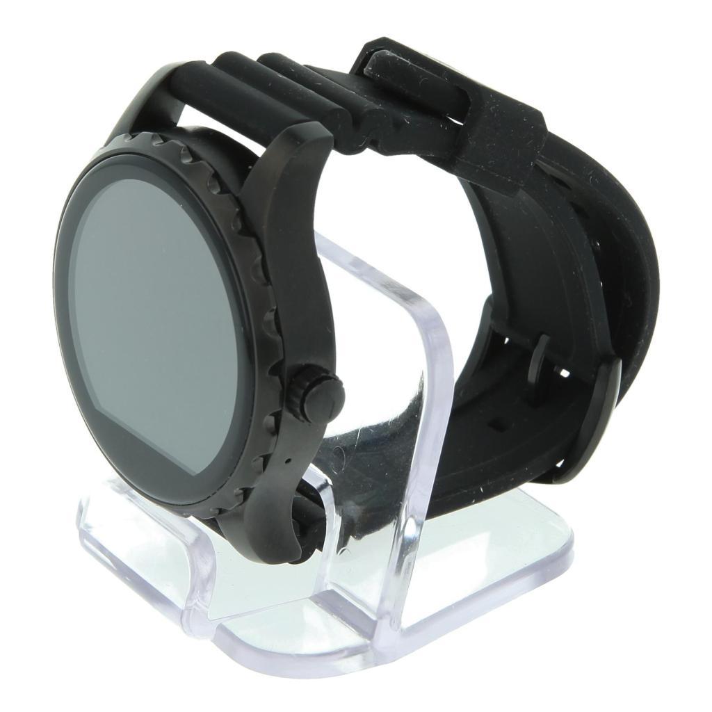 Fossil Q Marshal schwarz mit Silikonarmband schwarz (FTW2107) Schwarz