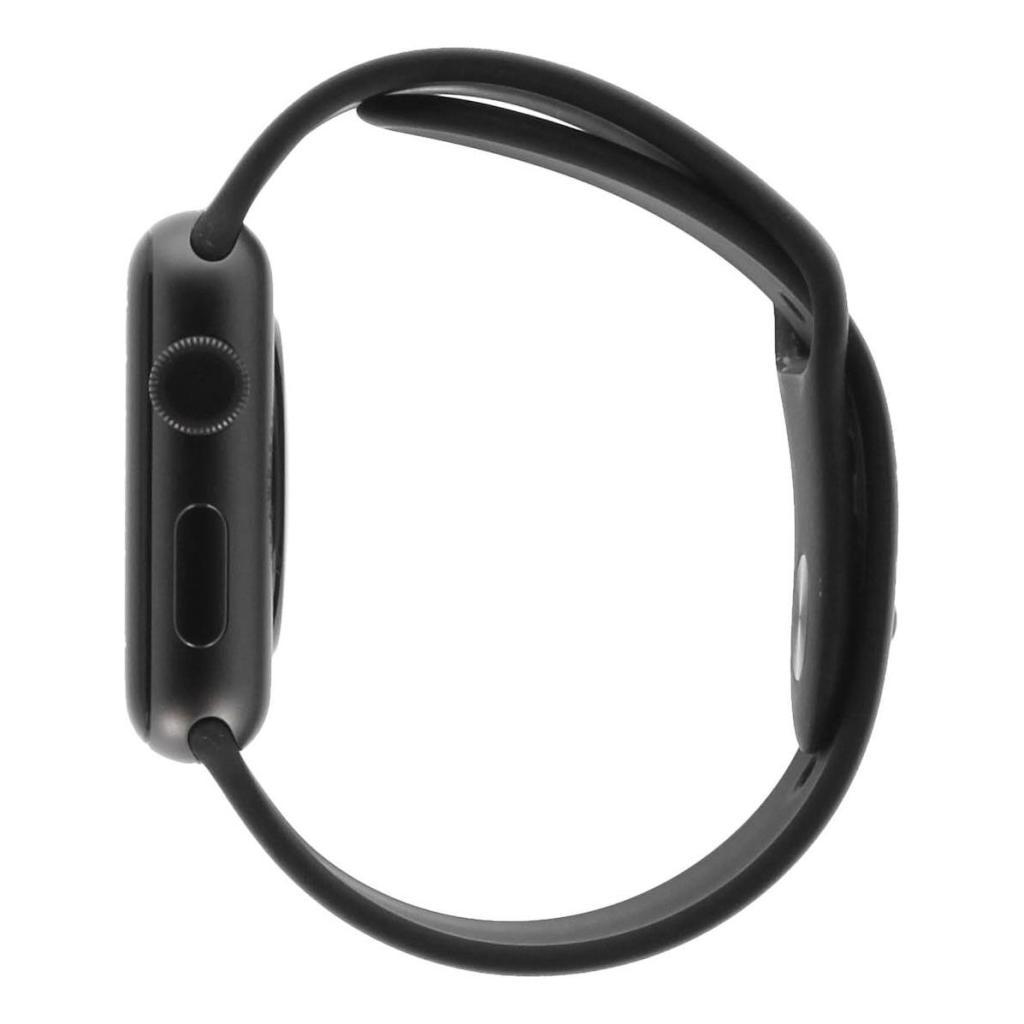 Apple Watch Series 3 Aluminiumgehäuse spacegrau 42mm mit Sportarmband schwarz (GPS) aluminium spacegrau