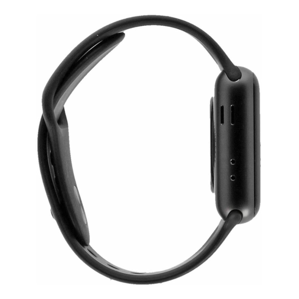 Apple Watch Series 3 Aluminiumgehäuse spacegrau 38mm mit Sportarmband schwarz (GPS) aluminium spacegrau