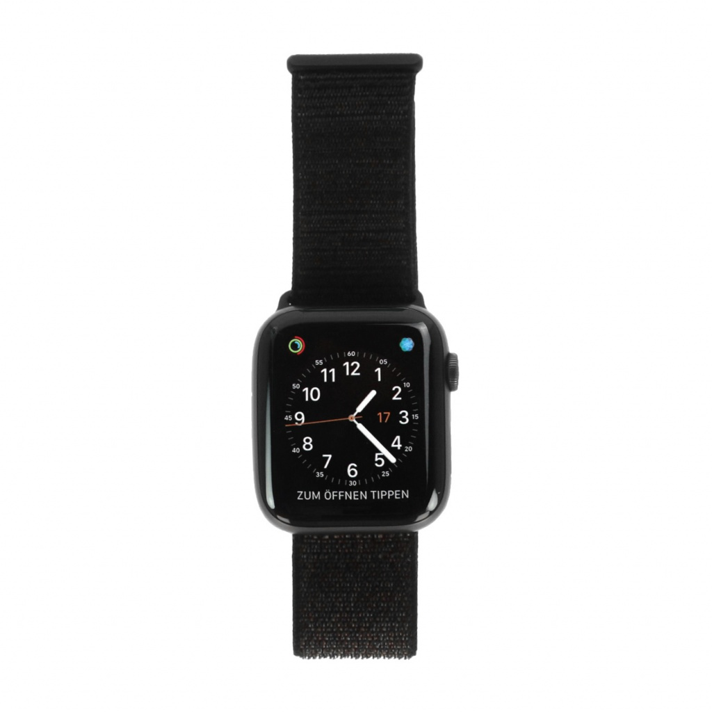 Apple Watch Series 4 Aluminiumgehäuse grau 44mm mit Sport Loop schwarz (GPS) aluminium grau