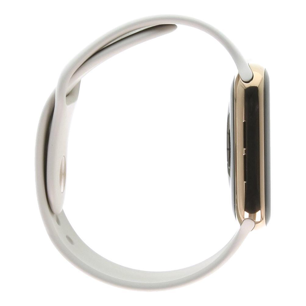 Apple Watch Series 4 Edelstahlgehäuse gold 44mm mit Sportarmband steingrau (GPS + Cellular) edelstahl gold
