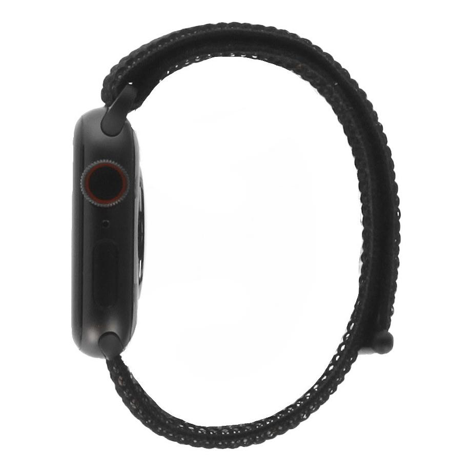 Apple Watch Series 4 Aluminiumgehäuse grau 40mm mit Sport Loop schwarz (GPS+Cellular) aluminium grau