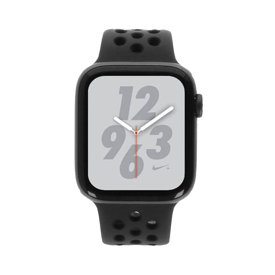 Apple Watch Series 4 Nike+ Aluminiumgehäuse grau 44mm mit Sportarmband anthrazit/schwarz (GPS) aluminium grau