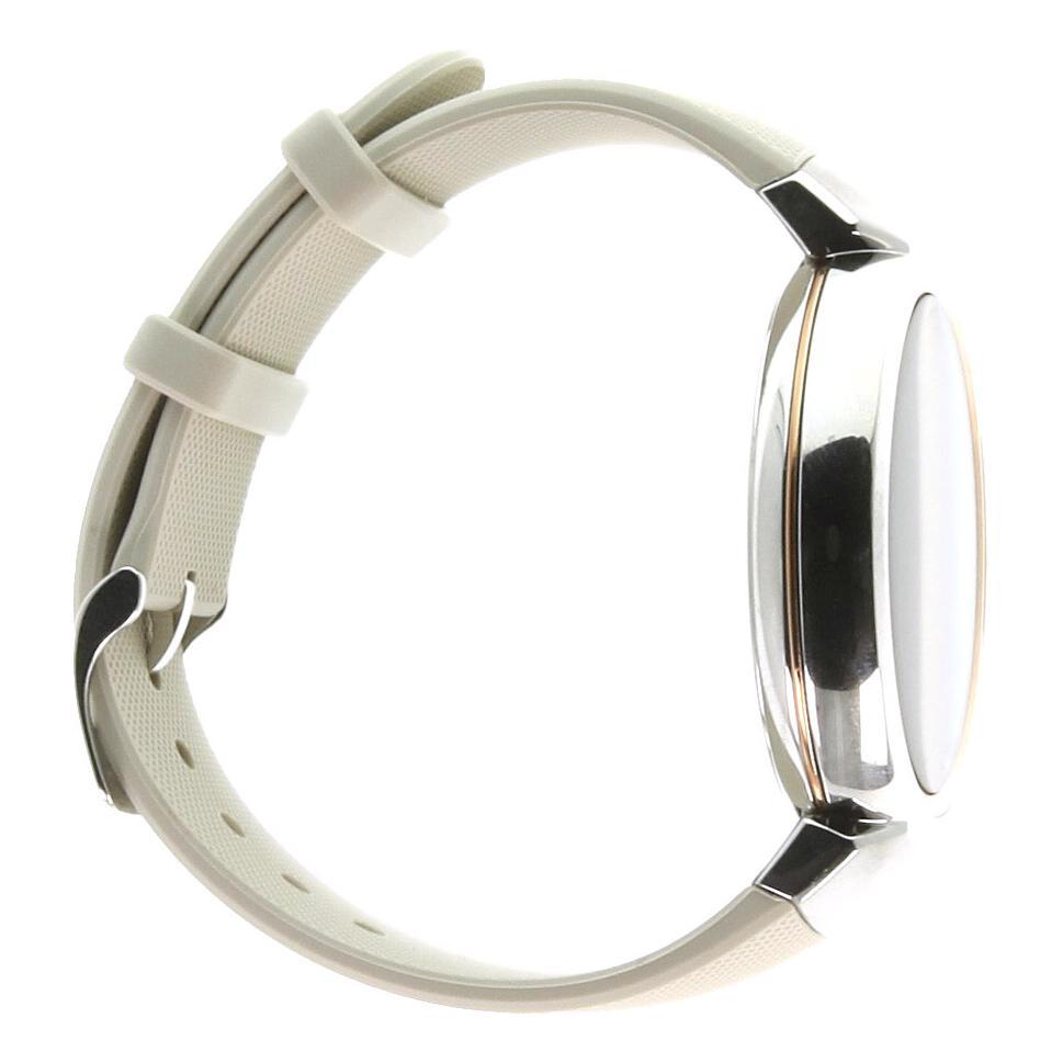 Asus ZenWatch 3 silber mit Sportarmband beige silber