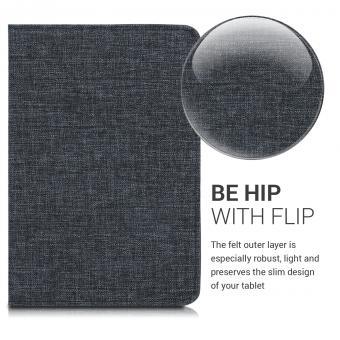 kwmobile Flip Cover für Apple iPad Mini 5 (2019) (48050.01) grau