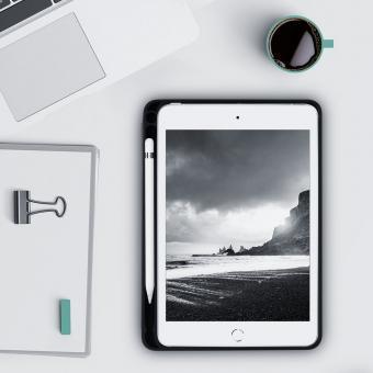 kwmobile Flip Cover mit Stifthalter für Apple iPad Mini 5 (2019) (48047.01) schwarz