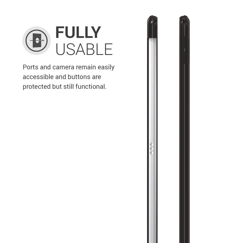"""kwmobile Soft Case für Apple iPad Pro 2017 10,5"""" / iPad Air 3 2019 10,5"""" (48337.01) schwarz/durchsichtig"""