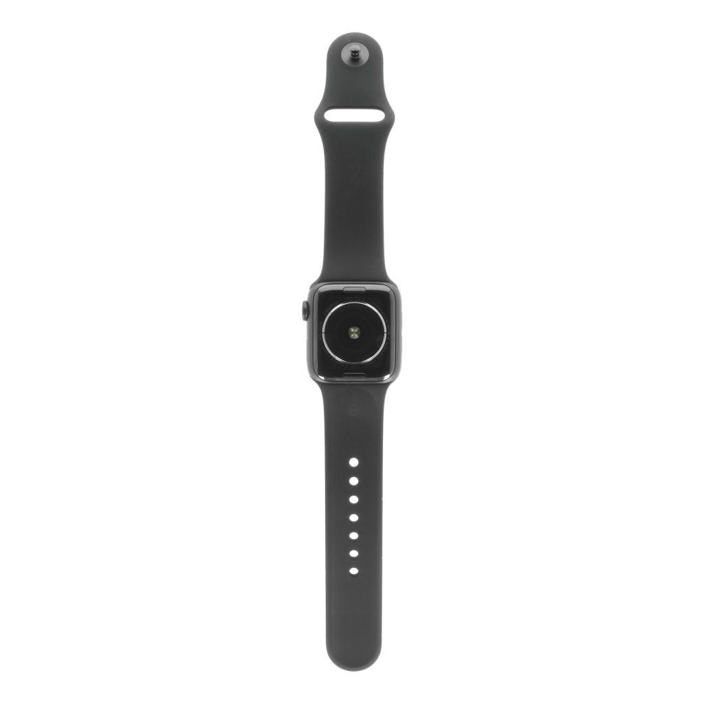 Apple Watch Series 5 Aluminiumgehäuse grau 40mm mit Sportarmband schwarz (GPS) grau
