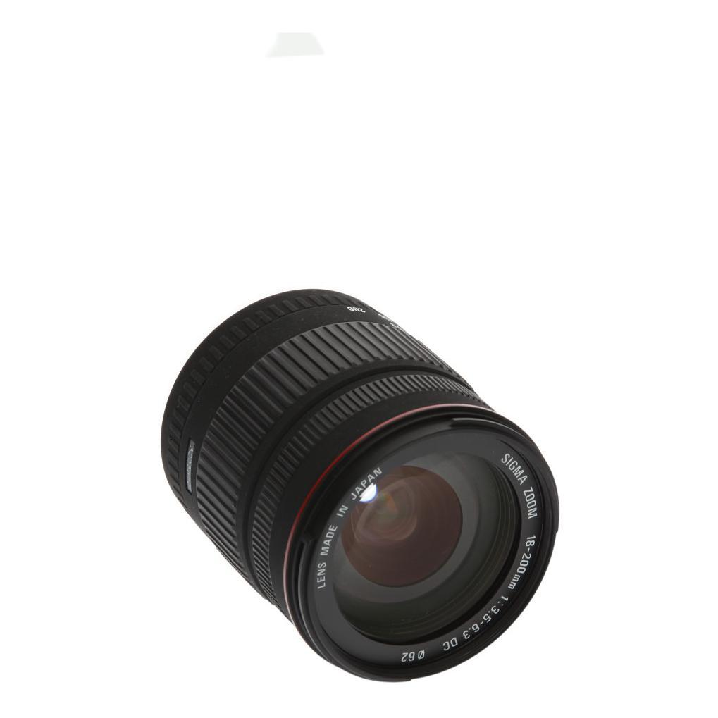 Sigma 18-200mm 1:3.5-6.3 DC für Sigma Schwarz