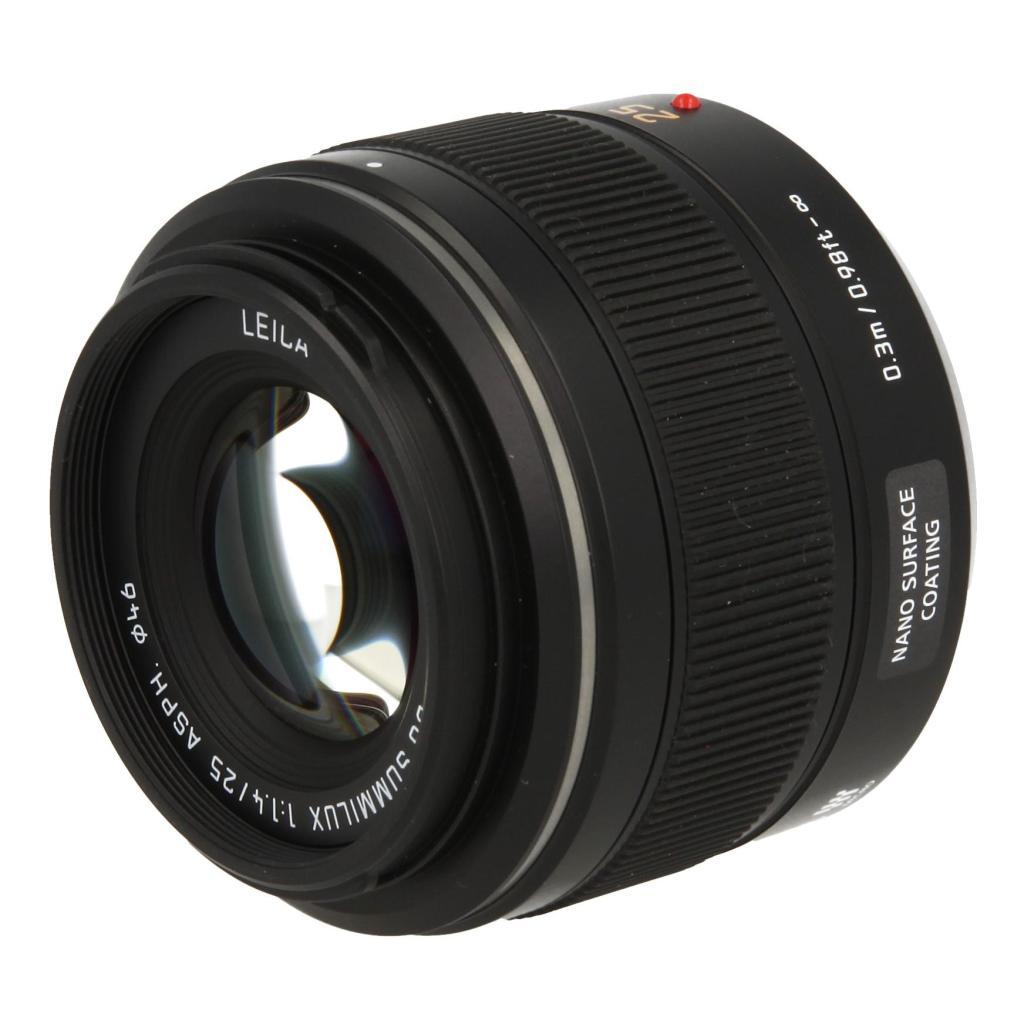 Panasonic 25mm 1:1.4 DG Summilux ASPH (H-X025E) Schwarz