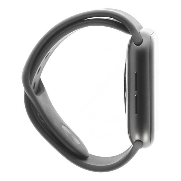 Apple Watch Series 5 Aluminiumgehäuse grau 44mm mit Sportarmband schwarz (GPS) grau