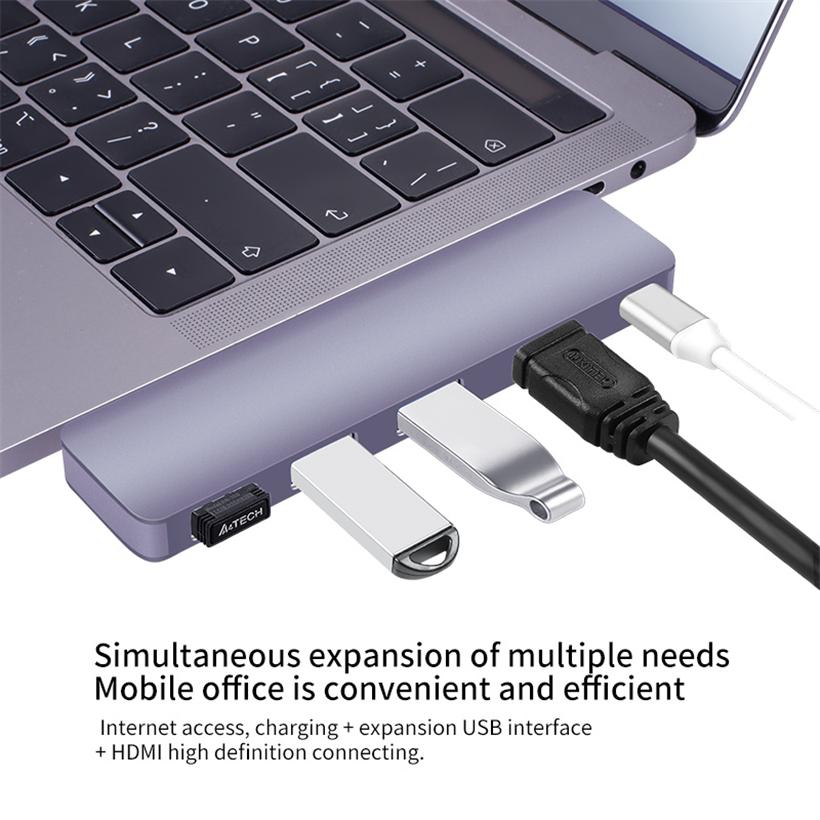USB-C Hub 5 in 1 -ID17254 grau